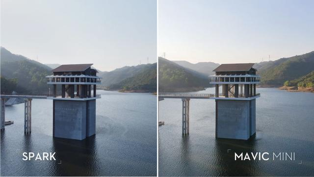 the image quality of Mavic Mini and Spark